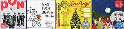 K - RAG FAIR - PON + X'mas Party + She + 白い天使 - 日版 4CD - NEW