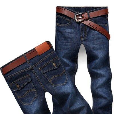 春秋款商務牛仔褲 男式時尚直筒寬鬆牛仔褲男士 Y6699