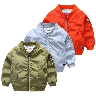 NO.108童衣著【外套3色】新款 男童90~150cm 舒適抗皺休閒夾克外套 柔滑面料拉鍊夾克外套