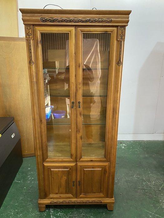 二手家具全省估價(大台北冠均 新五店)二手貨中心--古典優雅樟木玻璃展示櫃 書櫃 置物櫃 櫥櫃 G-0011507