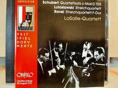 LaSalle Qt,Schubert,Lutoslawski,Ravel-S.qt,拉撒路四重奏團,演繹舒伯特,魯托拉斯基,拉威爾-弦樂四重奏,如新。