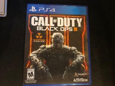 PS4 決勝時刻 黑色行動 3 Call of Duty Black Ops III 二手
