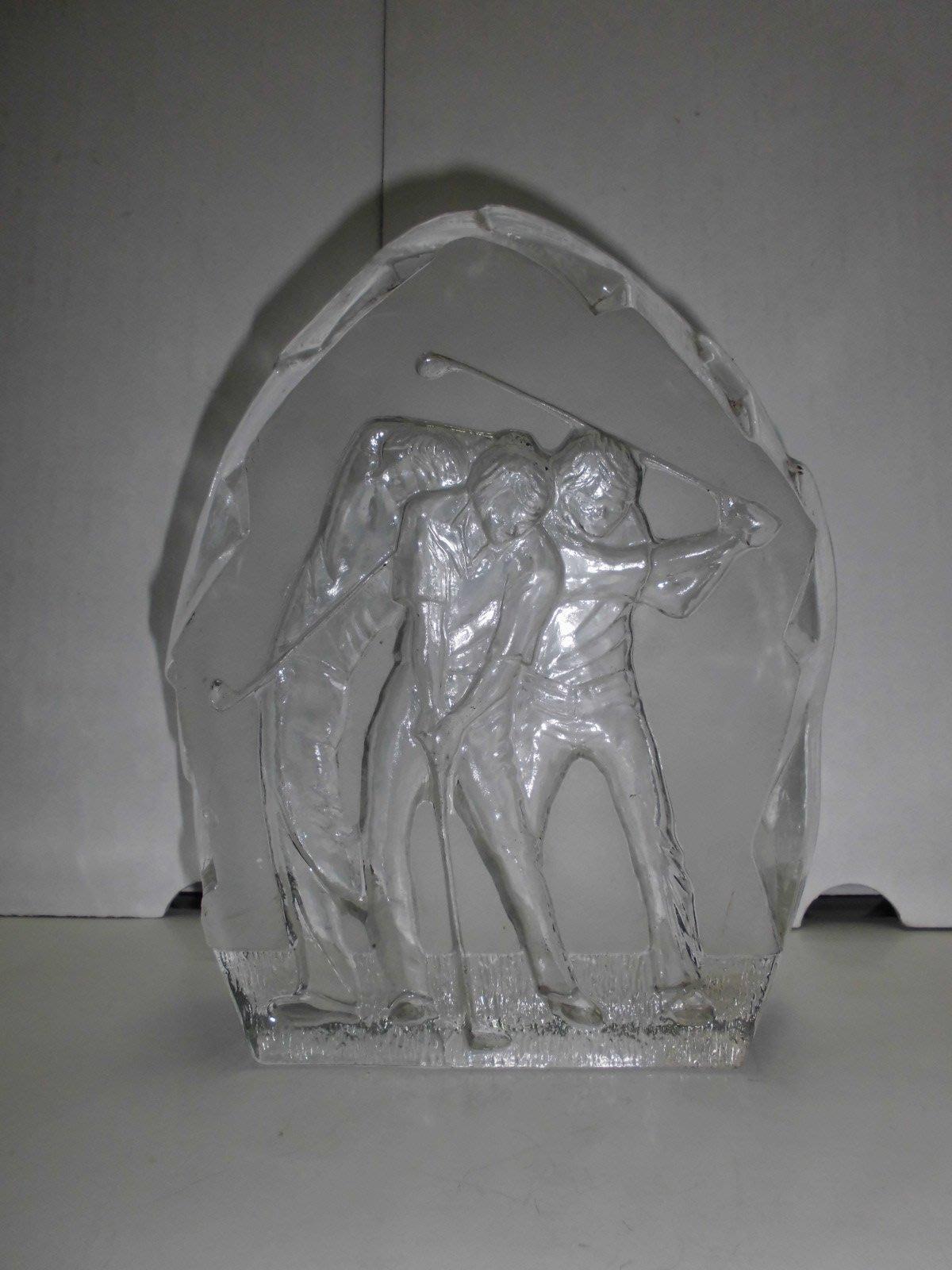 瑞士手工琉璃雕打高爾夫球[全面降價、拼經濟、歡迎議價]