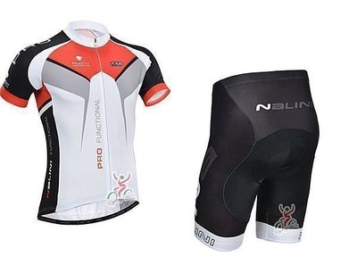 【探險者】2014款NALINI 紅白 車衣車褲短套裝 自行車服 單車服 頂極排汗透氣 騎士服