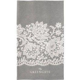 GreenGate Tea Towel Liva Warm Grey