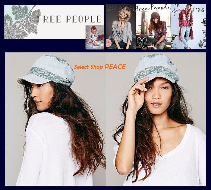 Free People 美國【現貨↘打6.5折】帽子 Faded Denim Work Cap