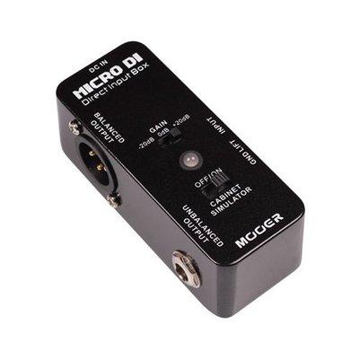 ☆ 唐尼樂器︵☆ Mooer Micro DI 電吉他/電貝斯/ Keyboard 平衡訊號轉換單顆效果器