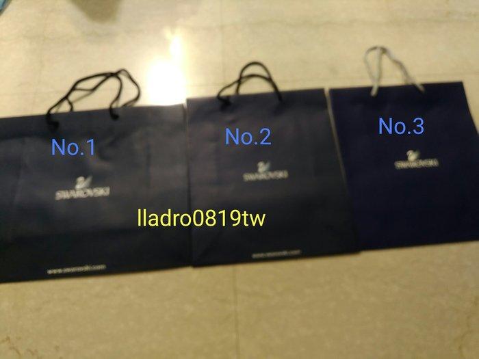 (全新No.1, 3有2款)施華洛世奇 水晶專用 原廠 紙提袋 紙袋 精品 名牌提袋 SWAROVSKI