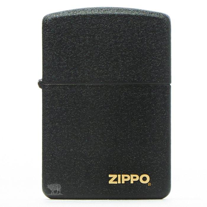 黑羊選物 Zippo 煤油打火機 1941機款 經典黑裂質感 logo小金標 美國原廠 經典配件 菸友必備 適合送禮