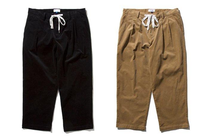 { POISON } DeMarcoLab CORD. EZ PANT-S #2 日本彈性燈芯絨 鞋帶拉繩 打褶寬版褲