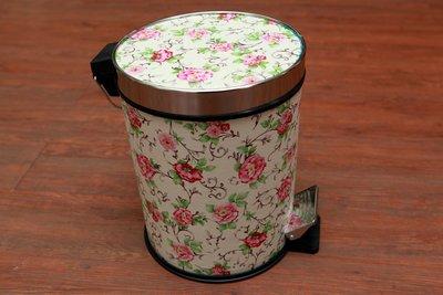 腳踏垃圾桶 垃圾桶 垃圾筒 粉玫瑰垃圾...