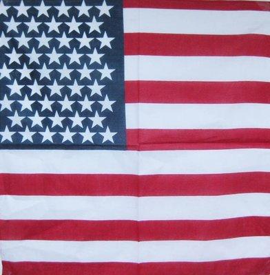 【順勢批發站】G19 超炫頭巾領巾三角巾/美國國旗/三種款式/搖滾龐克西部牛仔風