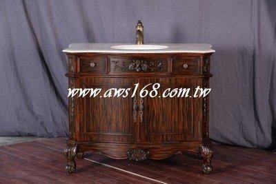 歐式浴櫃 歐式古典巴洛克大理石洗臉台櫃 洗手櫃 洗手台