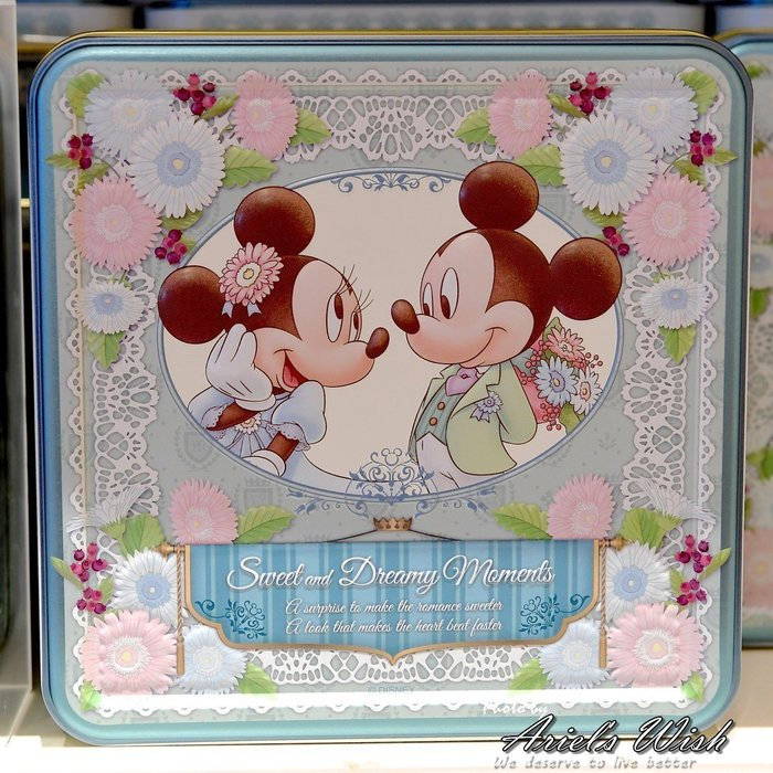 Ariels Wish日本東京迪士尼限定米奇米妮婚禮小物探房禮伴娘禮Tiffany藍米奇湖水綠薄荷綠小蛋糕喜餅禮盒-現貨