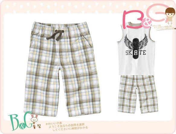 【B& G童裝】正品美國進口GYMBOREE Plaid Short灰白格子短褲7yrs