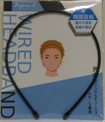 韓國製-男性專用髮箍 G50043  1入   兩側舒適不壓迫~ ✪棉花糖美妝香水✪