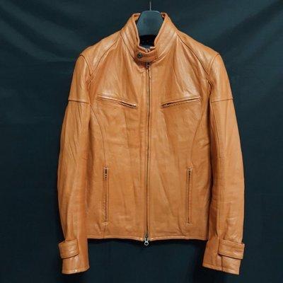 【全面優惠價】日本品牌RATTLE  TRAP 頂級窄版立領俐落型男柔軟山羊皮騎士皮衣 真皮