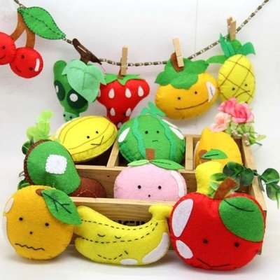 咕嚕手作小鋪~不織布水果玩偶 免裁剪 材料包 幼兒認知 玩具 不織布材料包 手工 DIY