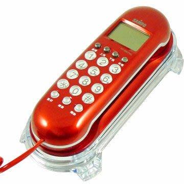 【通訊達人】【現貨供應】聲寶 HT-B907WL 掛壁式壓克力座來電顯示電話機_紅色款