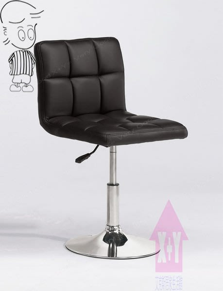 【X+Y時尚精品傢俱】現代吧檯椅系列-艾薇 吧台椅(黑皮).坐墊PU環保皮.摩登家具