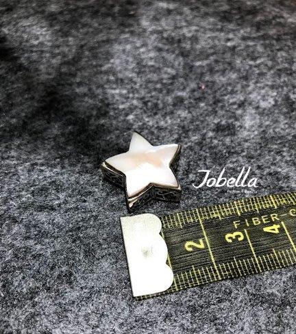 ✽JoBella 日本空運 日本代購 日貨✽ 925銀 星星造型母貝吊墜 (側面和後面皆縷空 很重工) 現貨