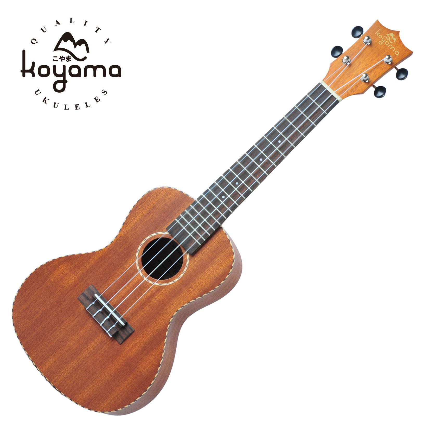 KOYAMA 75 series KYM-C75 23吋烏克麗麗 木繩鑲邊 Concert ukulele