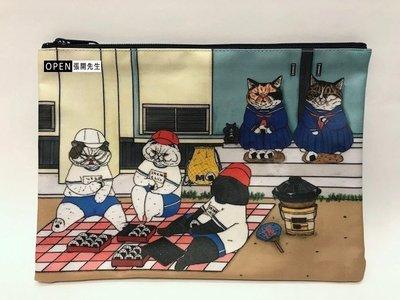 【張開先生】日本帶回 KORIRI 不思議貓世界 筆袋/收納袋-運動會【現貨】