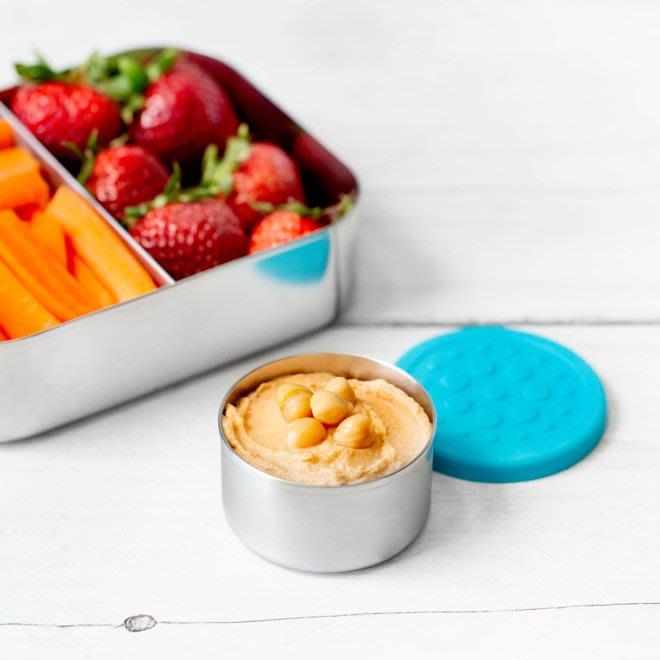 【可美童裝】預購~美國LunchBots《食品級不鏽鋼密封醬料罐,一組兩個2.5 oz dips》彩色矽膠蓋