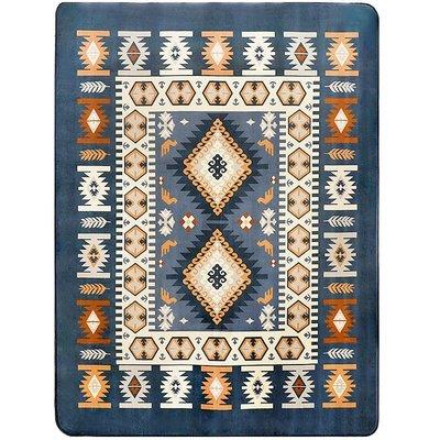 眾弘 地中海地毯客廳藍色 茶幾可機洗絨面塊毯床前 簡約現代地墊小猪佩奇