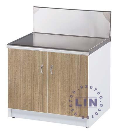 【品特優家具倉儲】R1501-07流理台爐台雙開門塑鋼