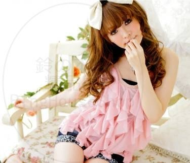 ✪ RingHouseShop ✪ 春夏繽紛甜美日系 甜美 立體波紋 背心