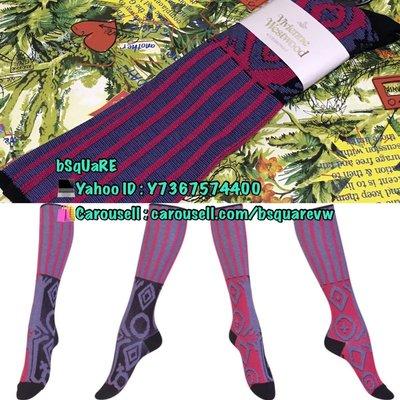 (現貨) 2019春夏Vivienne Westwood SOCKS  桃紅色直條 左右兩邊不同 土星 Logo 長襪 (保証正貨及全新) 可以平郵$5