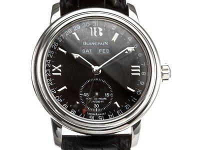 Blancpain 寶珀日月星不銹鋼自動腕錶