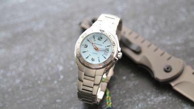 庫存出清~專櫃品牌royal marshal全不鏽鋼製藍寶石水晶sapphire錶鏡防水運動石英錶