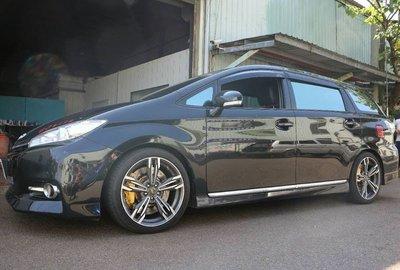 【Xiomara GT】煞車 卡鉗 活塞 TOYOTA WISH  355劃線打洞全浮動碟盤 GT版-中六卡鉗 陽極金