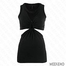 【WEEKEND】 折扣 UNRAVEL 低胸 抓皺 挖空 露後腰 無袖 背心 上衣 黑色