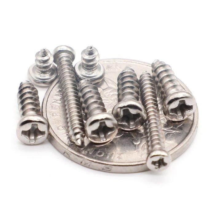 小花精品店-304不銹鋼盤頭圓頭自攻螺絲釘M1M1.2M1.4M1.7M1.8M2M2.2M2.3M2.5