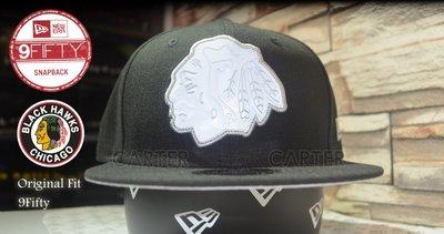 New Era NHL Chicago Black Hawks Snapback 冰球芝加哥黑鷹隊橡皮logo後扣可調
