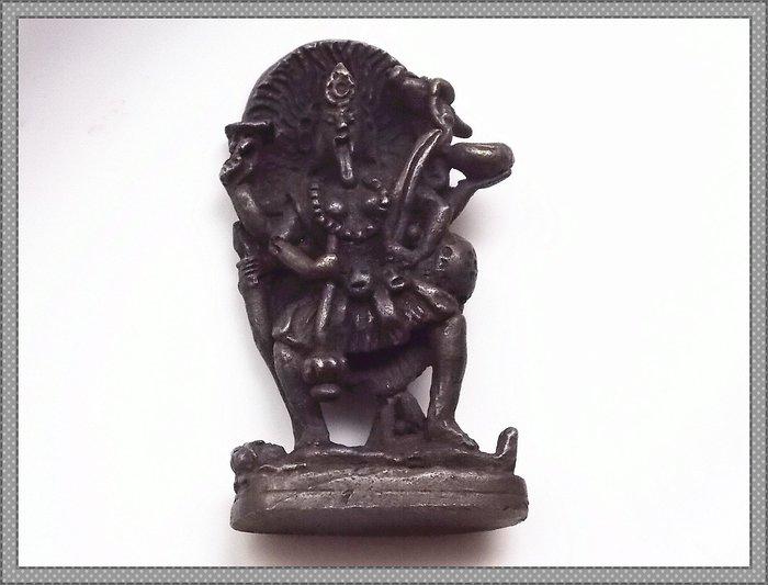 【雅之賞|藏傳|佛教文物】*特賣* 尼泊爾 銅製 四臂大黑天 隨身小佛像~Q1772