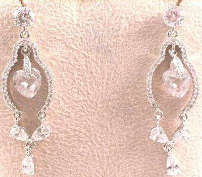+東瀛go+ 貴族鑽石針式鑲鑽耳環--E116=歡迎批發-母親節.情人節禮物首選