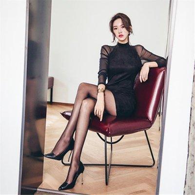 包臀打底小禮服裙秋裝新款修身顯瘦黑色內搭緊身連衣裙韓版女洋裝   全館免運