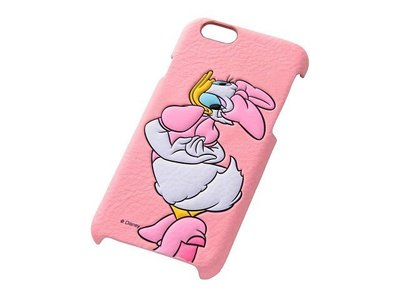 尼德斯Nydus~* 日本正版 Disney 迪士尼 唐老鴨 黛西 皮套 立體 背蓋式 手機殼 iphone6 4.7吋