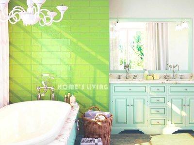 [磁磚精品HOME'S LIVING]10*30 古典復古風格 亮釉巧克力磚 亮綠 西班牙進口 咖啡廳 餐廳 室內設計