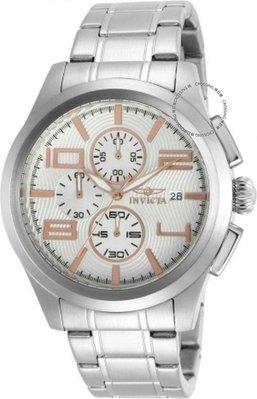 展示品 Invicta 12150 Specialty Chronograph Date Rose Accents Stainless Steel M