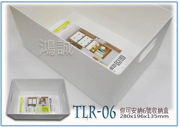 『 峻 呈 』(全台滿千免運 不含偏遠 可議價) 聯府 TLR06 TLR-06 你可6號收納盒 整理盒 小物盒