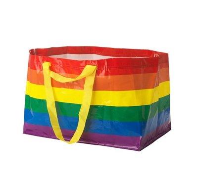 ☆創意生活精品☆IKEA STORSTOMMA 環保購物袋 /71公升/彩虹條紋
