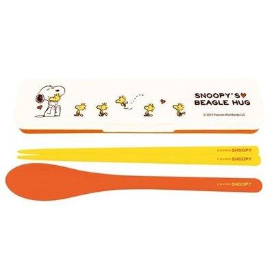 日本製 史奴比  湯匙筷子餐具盒 757449  奶爸商城