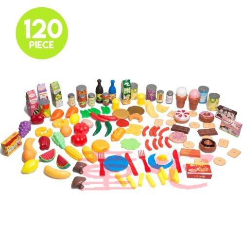 仿真食物玩具補充盒~120PCS配件超齊全-超人氣商品~家家酒必備◎童心玩具1館◎