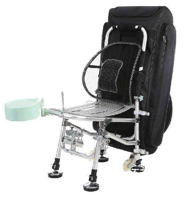 【格倫雅】^航母釣魚椅 折疊釣椅 多功能垂釣椅防晃躺椅 配全磁餌盤~配送50909[D