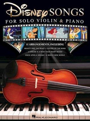 【599免運費】Disney Songs for Solo Violin & PianoHL00159561